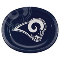NFL® 24-Count Los Angeles Rams Disposable Oval Plates