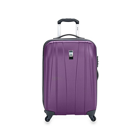 DELSEY Helium Shadow 21-Inch Carry-On Hardside Spinner in Purple