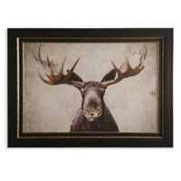 Moose 30-Inch x 43-Inch Framed Wood Wall Art