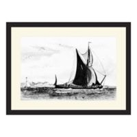 PTM Images Boat 22-Inch x 16-Inch Framed Wall Art