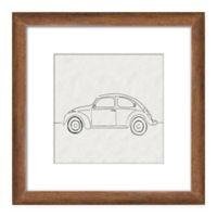 PTM Images Car Sketch 14-Inch x 14-Inch Framed Wall Art