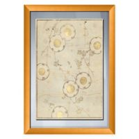 PTM Images Gold Circles 19-Inch x 27-Inch Paper Framed Print in Gold