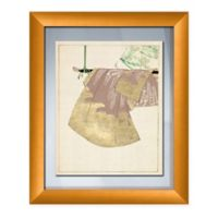 PTM Images Kimono On Swing 19-Inch x 23-Inch Paper Framed Print in Gold