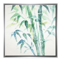 Ptm Images Bamboo Watercolor 31.75-Inch Square Framed Canvas in Silver