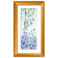 Ptm Images Bouquet Chinoiserie 15-Inch x 27-Inch Paper Framed Print in Gold