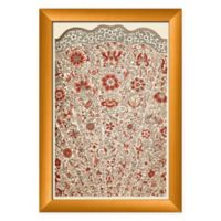 Ptm Images Magnified Red Fan 14-Inch x 20-Inch Paper Framed Print in Gold