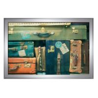 PTM Images Suitcases 43.5-Inch x 29.5-Inch Print Wall Art in Silver