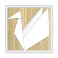 PTM Images Origami Dove 22-Inch Square Print Wall Art