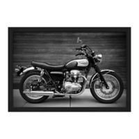 PTM Images Motorcycle 51.5-Inch x 35.5-Inch Print Wall Art in Black