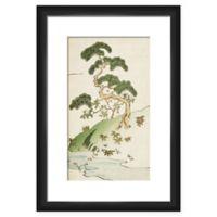 PTM Images Bonsai Trees on Hill Framed Wall Art