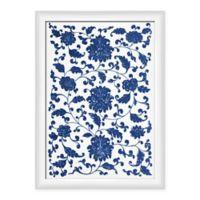 PTM Images Blue Floral Pattern Framed Wall Art