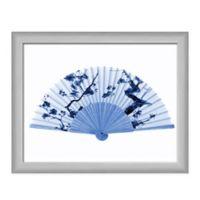 PTM Images Silver Blue Fan Framed Wall Art