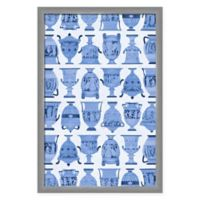 PTM Images Blue Urns Framed Wall Art