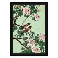 PTM Images Blush & Green Flower Framed Wall Art