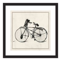 PTM Images Bike 18-Inch Square Print Wall Art in Black