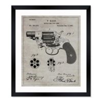 Oliver Gal™ Revolving Fire Arm 1881 Blueprint 10-Inch x 12-Inch Framed Wall Art