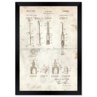 Oliver Gal™ Disposable Syringe 1951 Blueprint 15-Inch x 18-Inch Framed Wall Art