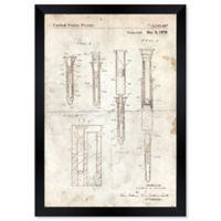 Oliver Gal™ Hypodermic Syringe 1970 Blueprint 10-Inch x 12-Inch Framed Wall Art