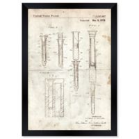 Oliver Gal™ Hypodermic Syringe 1970 Blueprint 26-Inch x 32-Inch Framed Wall Art