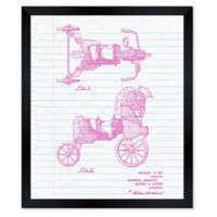 Oliver Gal™ Pony Toy Notebook Blueprint 26-Inch x 32-Inch Framed Wall Art