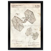 Oliver Gal™ Toy Spacecraft Tie Fighter 1980 Blueprint 10-Inch x 12-Inch Framed Wall Art