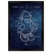 Oliver Gal™ Mr. Potato 2001 Blue Paper 10-Inch x 12-Inch Framed Wall Art in Blue