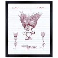 Oliver Gal™ I Love Trolls Notebook Blueprint 26-Inch x 32-Inch Framed Wall Art