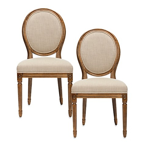 Safavieh Paris Oval Side Chair in Sand (Set of 2)