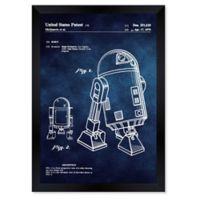 Oliver Gal™ Robot II 1979 Blueprint 26-Inch x 32-Inch Framed Wall Art