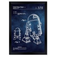 Oliver Gal™ Robot II 1979 Blueprint 15-Inch x 18-Inch Framed Wall Art