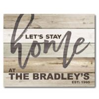 Countryside Market Let's Stay Home Personalized Wrapped Canvas Wall Art