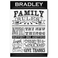 "Courtside Market™ ""Family Rules"" 20-Inch x 16-Inch Wrapped Canvas Wall Art"