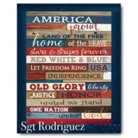 Courtside Market™ Land of the Free 16-Inch x 20-Inch Canvas Wall Art