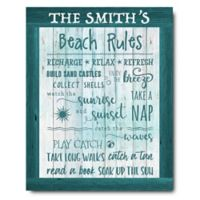 Courtside Market™ Beach Rules 16-Inch x 20-Inch Canvas Wall Art
