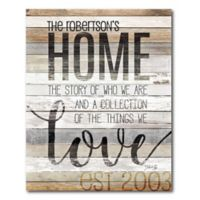 Courtside Market™ Home Story 16-Inch x 20-Inch Canvas Wall Art