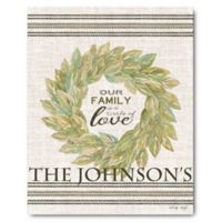 Courtside Market™ Our Family Wreath 16-Inch x 20-Inch Canvas Wall Art