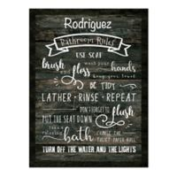 Courtside Market™ Bathroom Rules 16-Inch x 1.5-Inch Canvas Wall Art