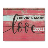 Courtside Market™ LOVE 16-Inch x 20-Inch Canvas Wall Art