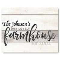 Courtside Market™ Our Lovely Farmhouse 16-Inch x 20-Inch Canvas Wall Art