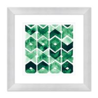 Emerald 23.5-Inch Square Framed Wall Art