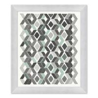 Blue and Grey II 23.5-Inch x 27.5-Inch Framed Wall Art