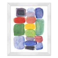 Color Blocks II 18-Inch x 22-Inch Framed Wall Art
