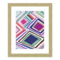 Zig Zag 1 27.5-Inch x 33.5-Inch Framed Wall Art