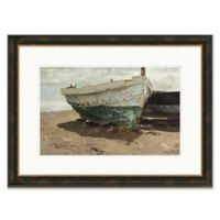 Dock on Beach 23.5-Inch x 31.5-Inch Framed Print Wall Art