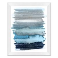 Abstract Blue Ombre 25.5-Inch x 31.5-Inch Paper Framed Wall Art