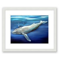 Whale 22-Inch x 18-Inch Paper Framed Print Wall Art
