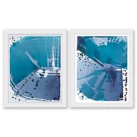 Sea Blue 25.5-Inch x 31.5-Inch Framed Diptych Wall Art (Set of 2)