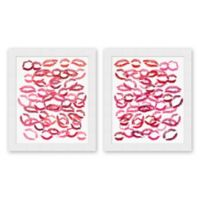 Lipstick Kiss 23.5-Inch x 27.5-Inch Framed Wall Art (Set of 2)