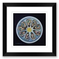 Oyster 16-Inch Square Paper Framed Print Wall Art