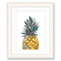 Pineapple 15-Inch x 18-Inch Paper Framed Print Wall Art
